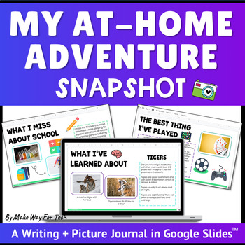Distance Learning Writing Prompts | Distance Learning Writing Google Classroom