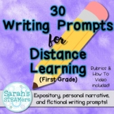 Distance Learning Expository and Narrative Writing Prompts