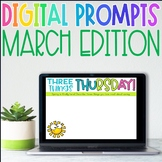 Distance Learning Writing Prompts for March
