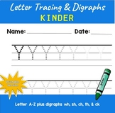 FREE: Kinder Letter Tracing A-Z & Digraphs: Printable and Seesaw