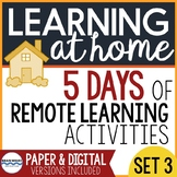 Distance Learning at Home Reading, Writing, Grammar Practi