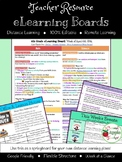 Distance Learning eLearning Board (Lesson Planning Template)