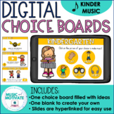 Distance Learning for Music - Digital Choice Board for Kin