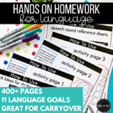 Distance Learning for Speech Therapy Busy Homework: Language Set
