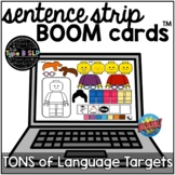 Sentence Strips BOOM CARDS™ for Language: Distance Learnin