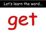 "Distance Learning ""get"" Sight Word (Google Slides)"