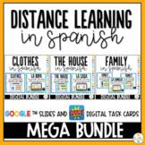 Distance Learning in Spanish - Google Slides Digital Task Cards Digital Bundle