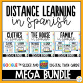Distance Learning in Spanish - Google Slides Digital Task