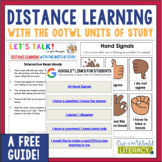 Distance Learning with The OOTWL Units of Study- A FREE GUIDE