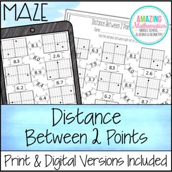 distance maze by amazing mathematics teachers pay teachers