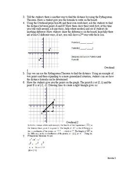 Lesson Plan: Distance Meets Pythagorean Theorem