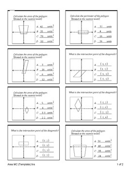Distance, Midpoint, Area and Perimeter (Quiz)