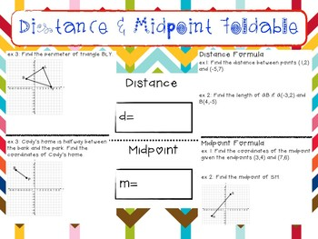 Distance/Midpoint Foldable