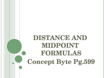Distance & Midpoint Formulas