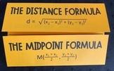 Distance & Midpoint Formulas Foldable