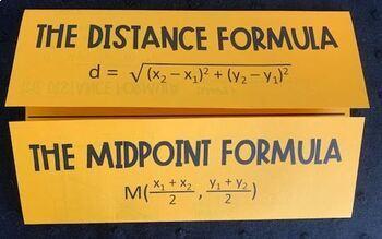 Distance & Midpoint Formulas (Algebra Foldable)