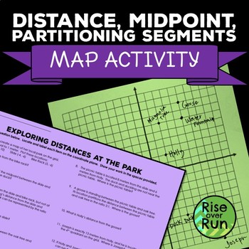Distance, Midpoint, Partitioning Line Segments Map Activity