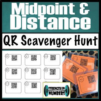 Distance & Midpoint QR Code Scavenger Hunt/Task Cards