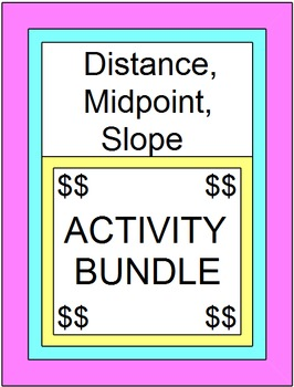 Distance, Midpoint and Slope BUNDLE (ZIP file)