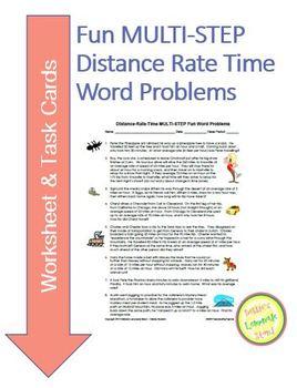 distance rate time multi step fun word problems task. Black Bedroom Furniture Sets. Home Design Ideas