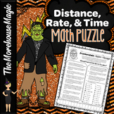 SPEED MATH PUZZLE - DISTANCE, RATE, & TIME WORD PROBLEMS