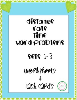 Distance-Rate-Time Worksheet & Task Card BUNDLE - all levels!