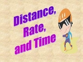 Distance, Rate, and Time Formula:  Power Point Lesson