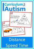 Distance Speed Time Cards Autism Science