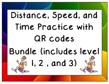 Distance, Speed, and Time Practice Bundle