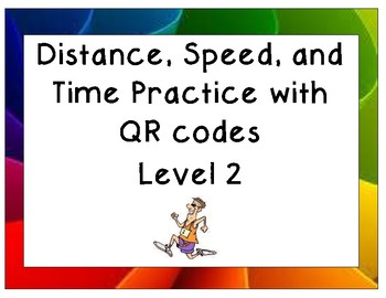 Distance, Speed, and Time Practice Level 2