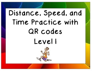 Distance, Speed, and Time Practice: Level One