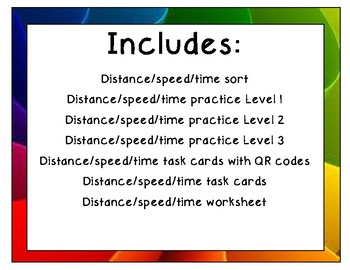 Distance, Speed, and Time Unit Bundle
