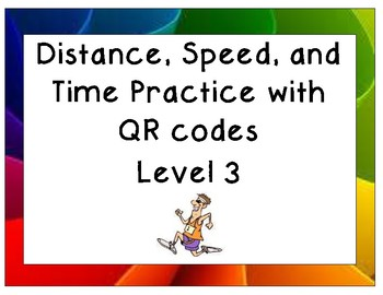 Distance, Speed, and Time practice Level 3