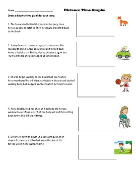 ... Distance Time Graph Worksheet/ Make a graph based on a story