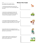 Distance Time Graph Worksheet/ Make a graph based on a story