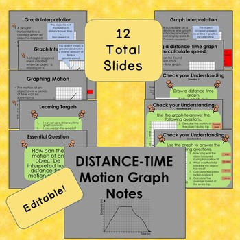 Distance-Time Motion Graph Notes- PowerPoint