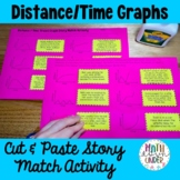 Distance Time Travel Graph Story Match Activity! Cut and Paste