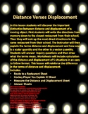 Distance Verses Displacement In Measuring Motion