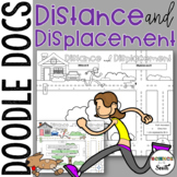 Distance and Displacement Doodle Docs Notes or Graphic Organizer