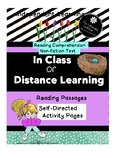 Distance and In Classroom Learning Reading Comprehension 2