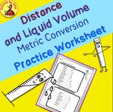 Distance and Liquid Volume METRIC CONVERSIONS Practice Worksheet Handout