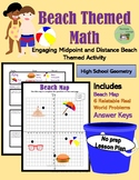 Distance and Midpoint Beach Map Activity