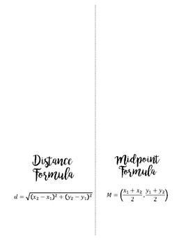 Distance and Midpoint Foldable