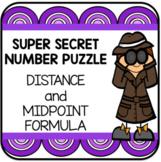 Distance and Midpoint Formula Super Secret Number Game