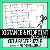 Distance Formula and Midpoint Formula Puzzle