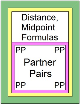 Distance & Midpoint Formulas (Partner Pairs) 2 Activities with 20 TASK CARDS