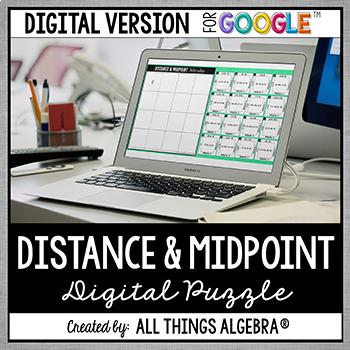 Distance and Midpoint Formulas Puzzle: DIGITAL VERSION (for Google Slides™)