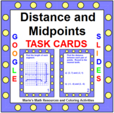 """DISTANCE AND MIDPOINTS TASK CARDS: """"GOOGLE SLIDES"""", SMARTBOARD, POWERPOINT"""