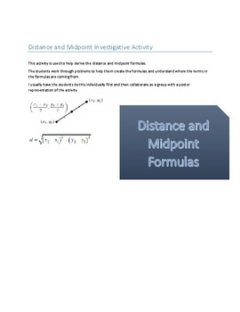 Distance and Midpoint Investigative Activity