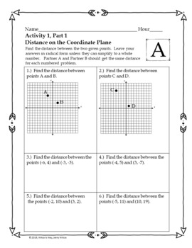 Distance and Midpoint Partner Activities